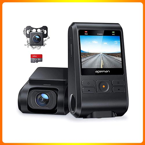 APEMAN Dash Cam, Front and Rear Camera