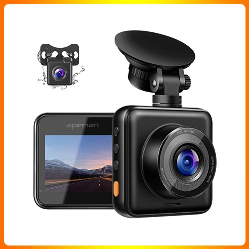 APEMAN Dual Dash Cam for Cars Front and Rear