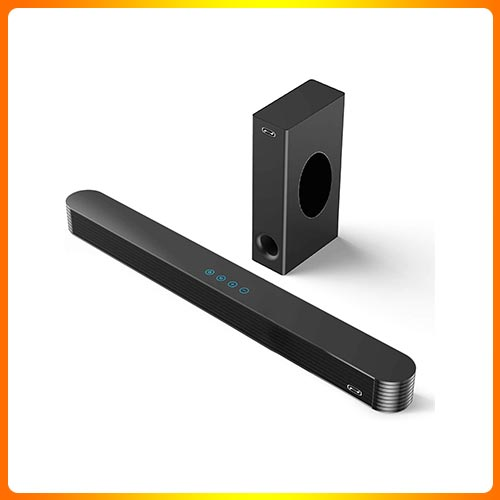 BESTISAN 140 Watts Sound Bar with Wired Subwoofer