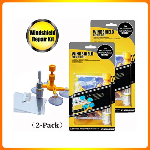 GLISTON Car Windshield Repair Kit for Chips and Cracks