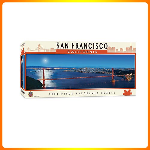 MasterPieces Cityscapes Panoramic Jigsaw Puzzle, San Francisco, and California