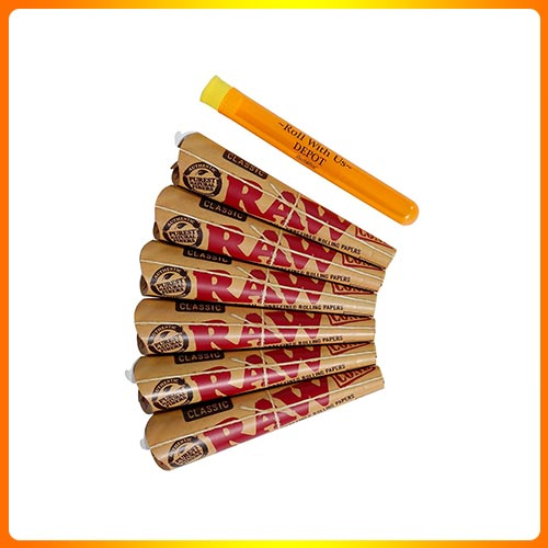 RAW 1 1/4 Classic Rolling Paper Pre-Rolled Cones