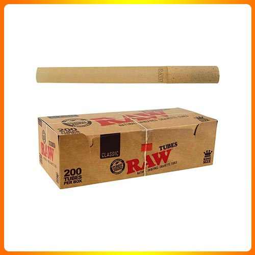 RAW Classic Natural Unrefined Rolling Paper – Pre Rolled Tubes