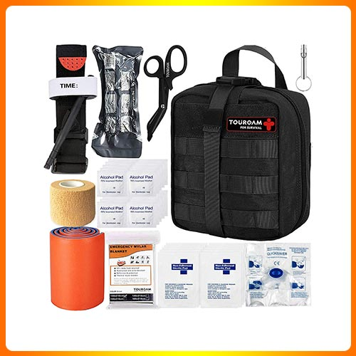 TOUROAM Tactical Emergency First Aid Medical Kit for