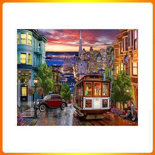 JVermont Christmas Company San Francisco Trolley Jigsaw Puzzle 1000 Puzzle