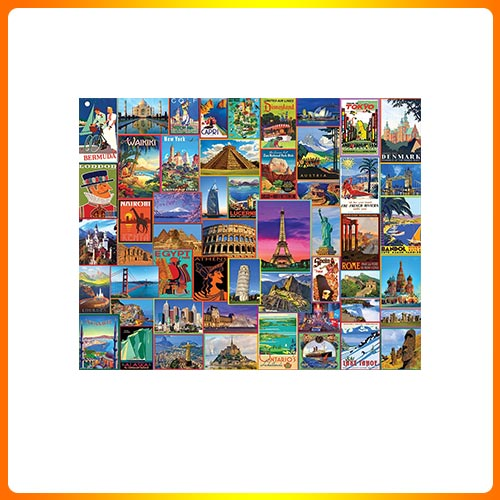 White Mountain Puzzles Best Places In The World – 1000 Piece Jigsaw Puzzle