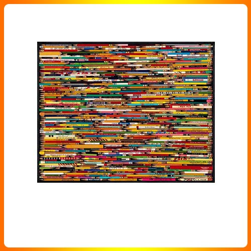 White Mountain Puzzles Pencil Collage – 1000 Piece Jigsaw Puzzle