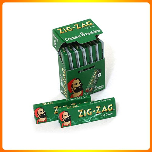 Zig Zag Green Cut Corners Regular Size 70mm Multipack of Papers