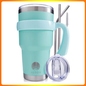 ALBOR-TRIPLE-INSULATED-STAINLESS-STEEL-TUMBLER-30-OZ-SEAFOAM-COFFEE-TRAVEL-MUG-WITH-HANDLE.