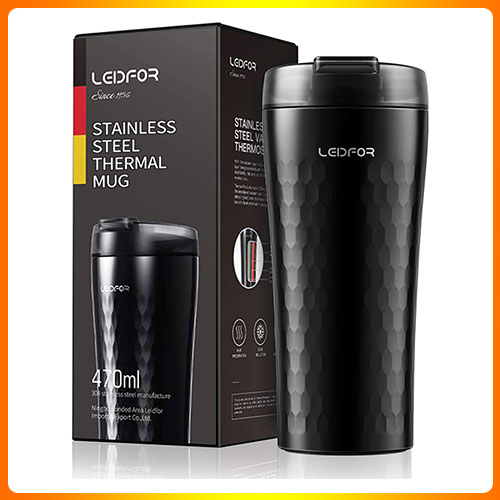 LEIDFER-COFFEE-TRAVEL-MUG-TUMBLER-THERMAL-CUP-VACUUM-INSULATED-STAINLESS-STEEL-LEAK-PROOF-LID-KEEP-HOT-COLD-16-OUNCE-BLACK.