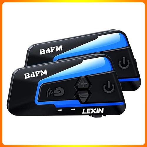 LEXIN 2pcs B4FM Motorcycle Bluetooth Headset