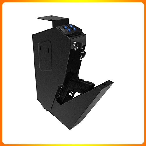 RPNB Mounted Gun Safety Device with Biometric Lock