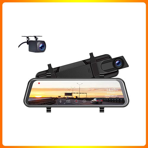 Rear View Mirror Camera for Car with Waterproof 1080P