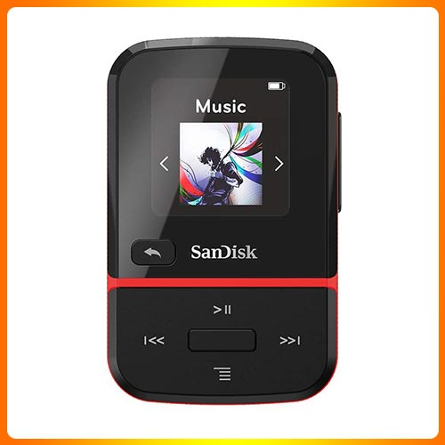 SanDisk 32GB Clip Sport Go MP3 Player for Audiobooks