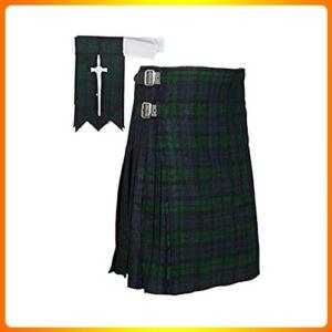 Scottish-Black-Watch-Tartan-Kilt-FREE-Flashes-&-Kilt-Pin