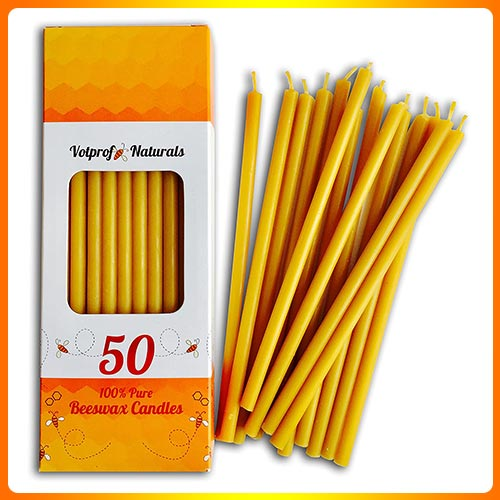 Votprof-Natural-50-Beeswax-Candles