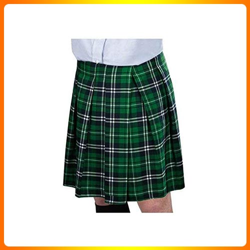 Amscan St. Patrick's Day Adult Green Plaid Kilt | Party Costume