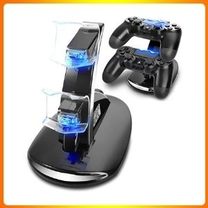 PS4 controller charging station, the dream gadget for gamers, dual USB, quick charging.