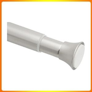 Amazon basics rust resistance easy to install tension shower doorway curtain rod, 54 to 90 Nickel.