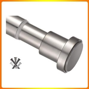 BRIX tension Curtain Rod 27 43 inches, rust resistance shower curtain rod for Windows or doorways, Matte Nickel.