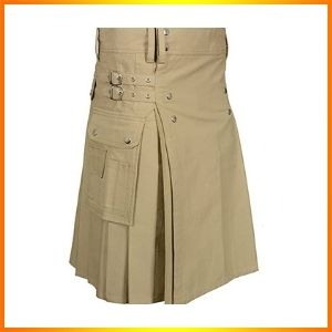 Men's Khaki Utility Kilt