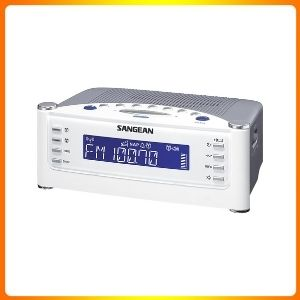 Sangean RCR 22 atomic clock with FM RDS AM Aux in a digital tuning clock radio.
