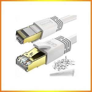 Byzantine Cat8 Ethernet Cable 50 Ft White