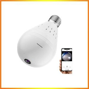 Wireless Bulb Security Camera, 360° Panoramic Camera Bulb<br />