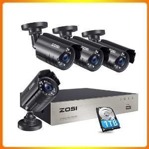 ZOSI 1080P Security Camera System with 1TB Hard Drive