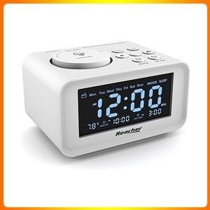 REACHER Dual Alarm Clocks Radio