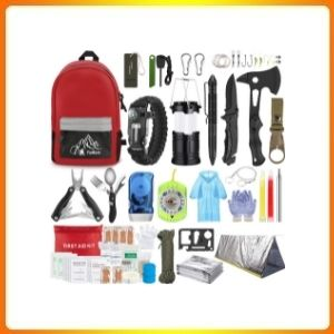 Emergency Survival Kit with Outdoor Trauma Bag