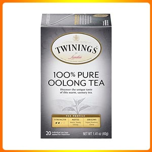 Twinings of London Pure Oolong Tea Bags, 20 Count (Pack of 6)