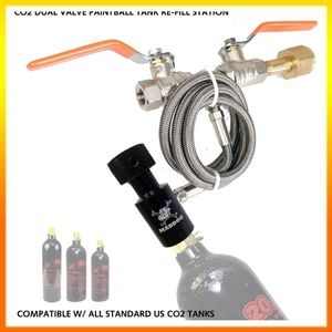 Maddog co2 paintball filling tank, dual valve bottle CO2 refill <br />